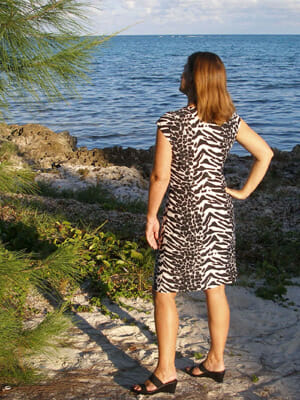 Animal print dress.
