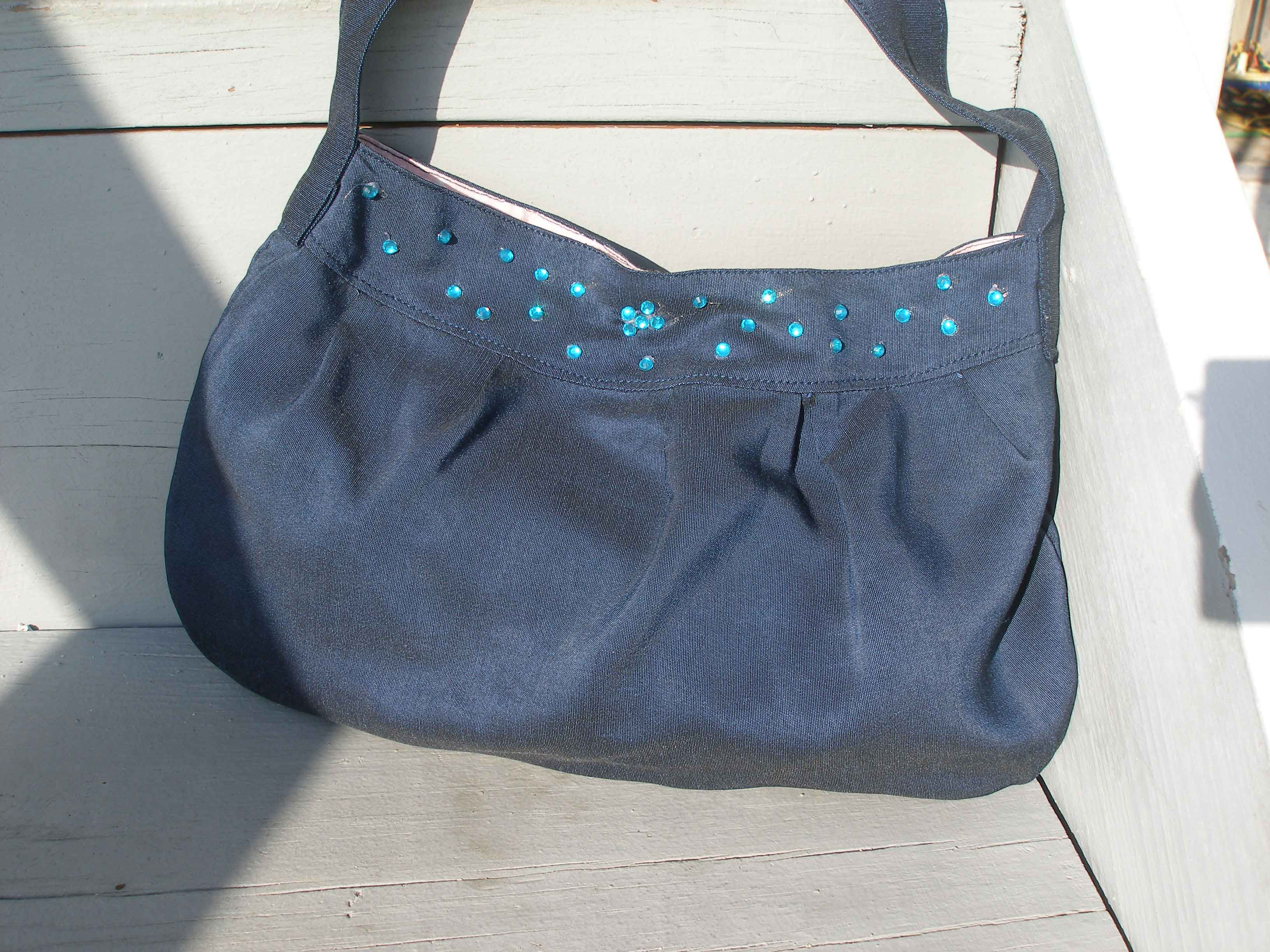 The Blue Bag – a mess of glue and bling