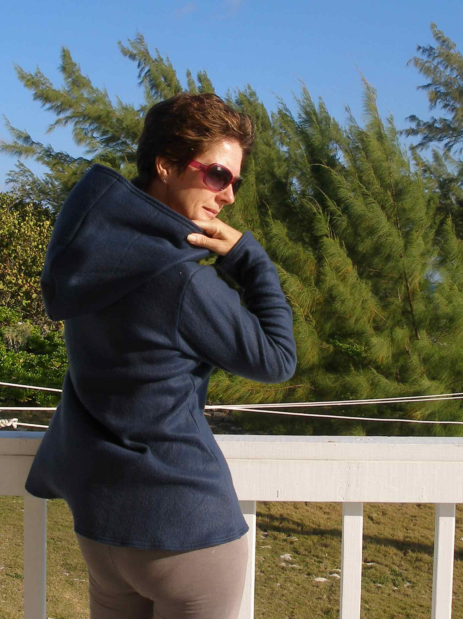 Fleece hoodie !  Why?