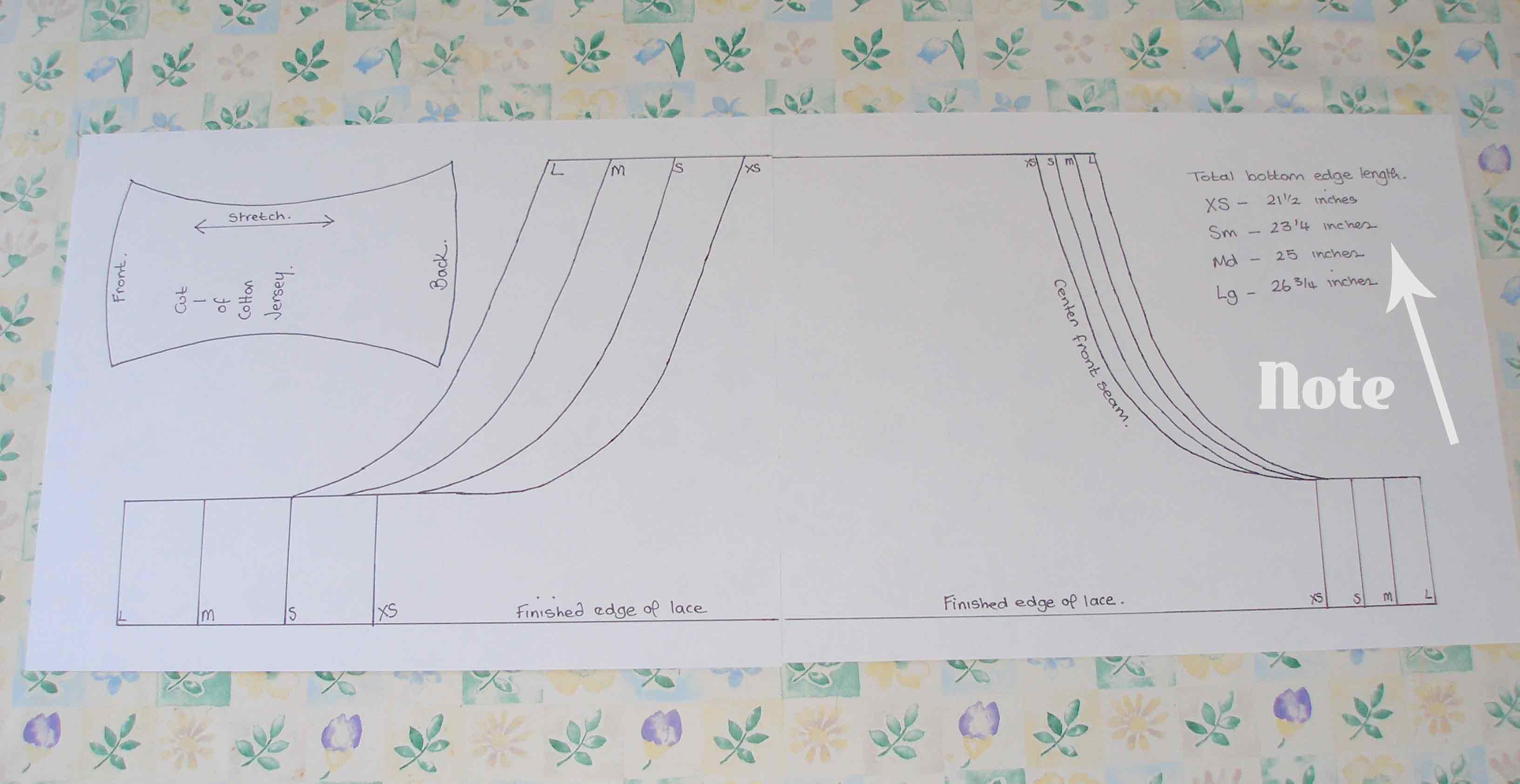 Free undies pattern – making up the pattern