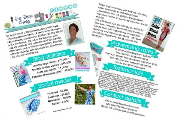 Download So Sew Easy media kit here
