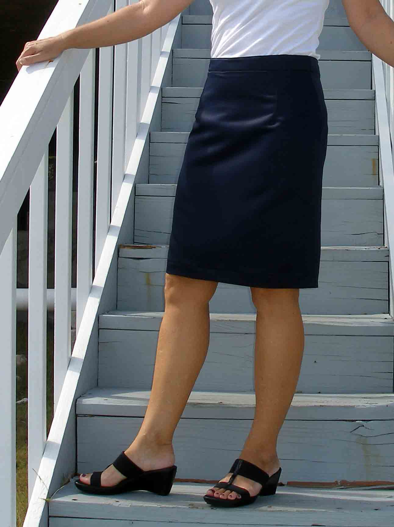 a pencil skirt sloper and the resulting skirt so