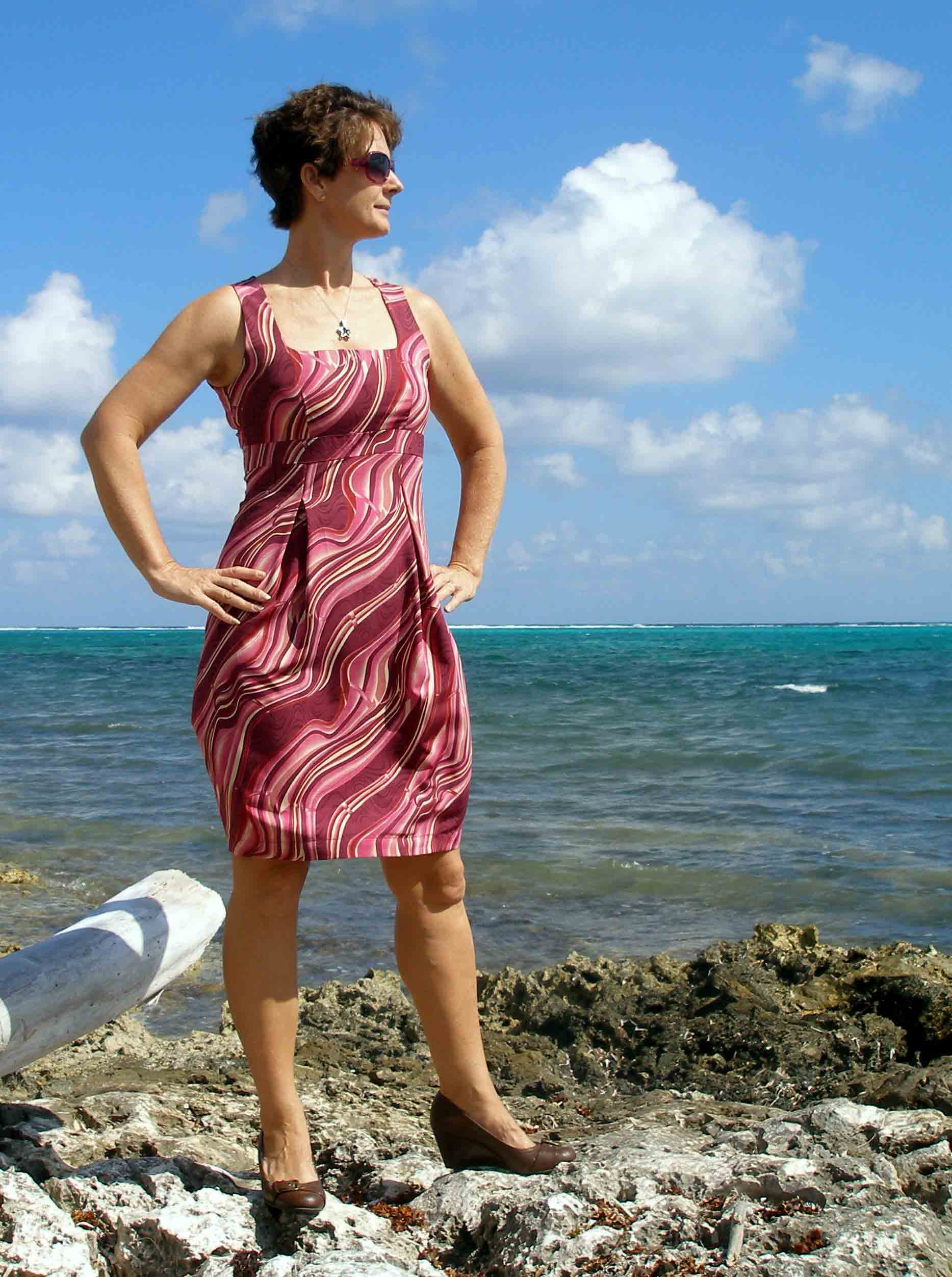 So Sew Easy - Danielle Dress - free pattern. The dress that really got me noticed as a sewist.