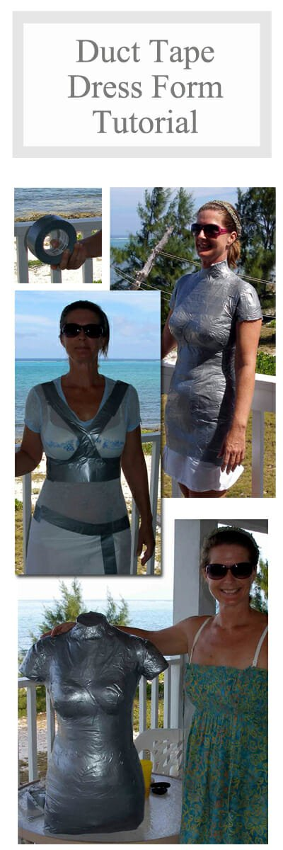 My DIY Duct Tape Dress Form - So Sew Easy