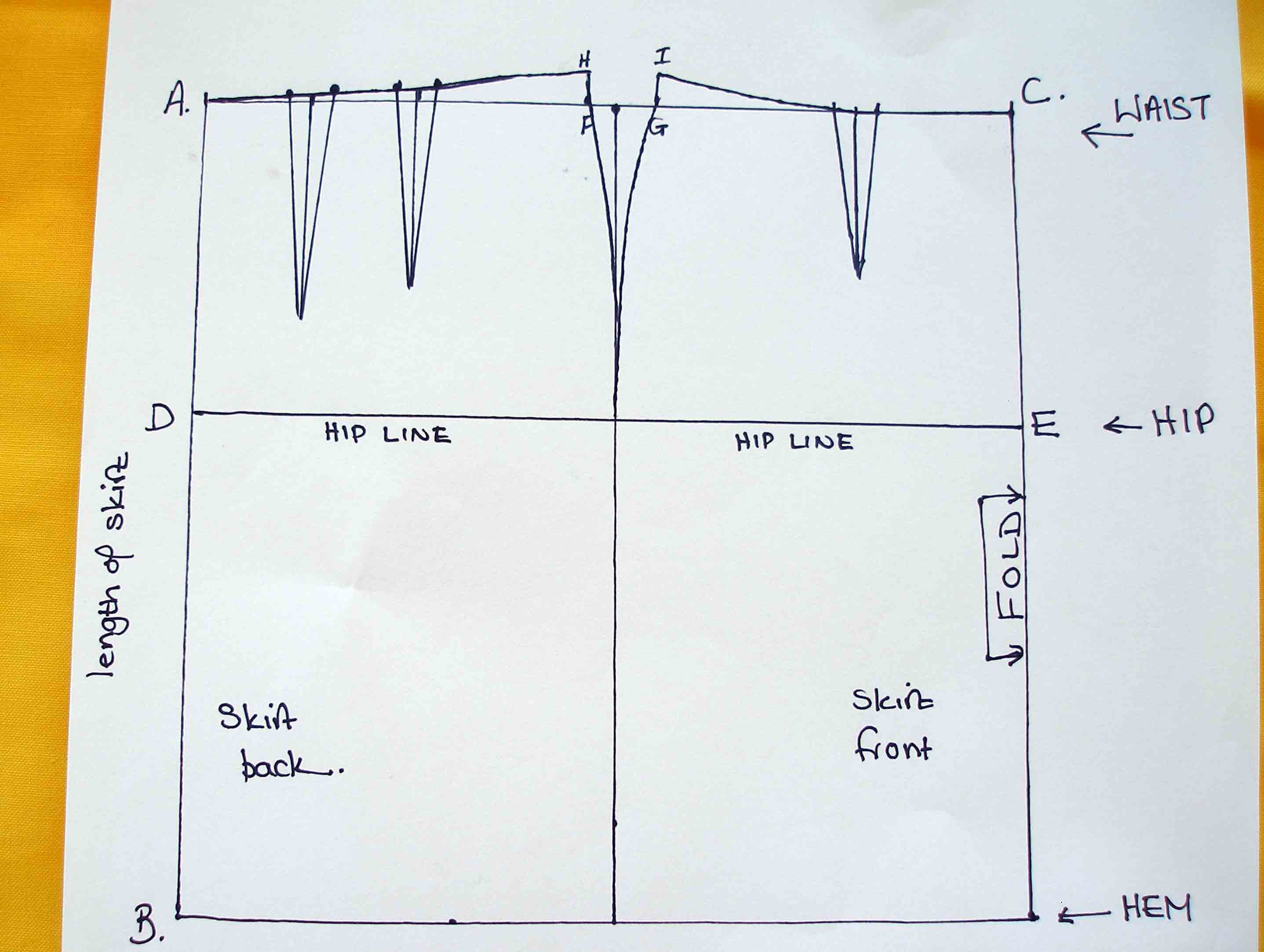 So Sew Easy - drawing your own pencil skirt sloper pattern. It's so easy - spreadsheet provided.