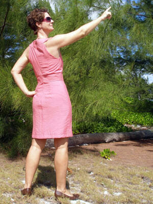 Butterick B5353 pattern review.  For one true to sizing, and far too small for me!