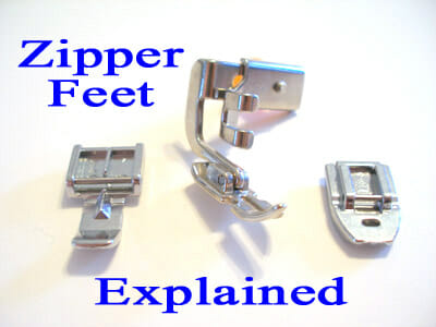 Zipper feet explained - all about xipper feet and when you would use them. Part of the Sew A Skirt beginners tutorial series from So Sew Easy.
