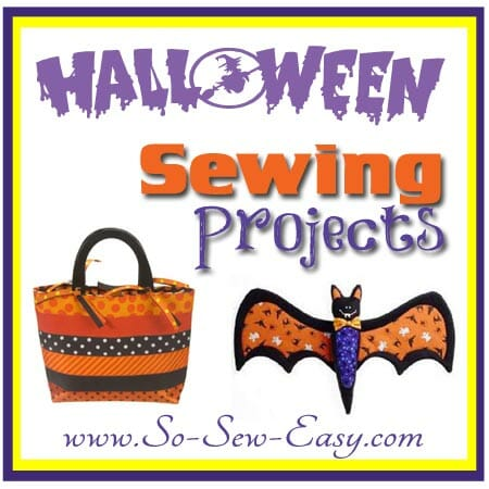 Halloween Sewing Projects. From spooky to cutey, over 50 Halloween sewing projects.