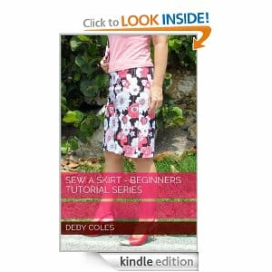 Sew a Skirt - beginners tutorial series. New sewing lesson e-book launched by So Sew Easy.