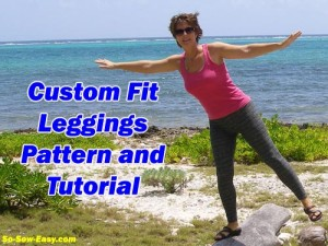 How to draft your own custom leggings pattern and sew leggings from So Sew Easy. Once the pattern is done, the sewing is so quick and easy, I'll be making lots of these in all sorts of fabrics!