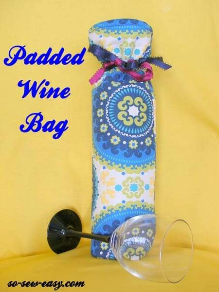 Wine Bag Pattern. Sew a padded wine or