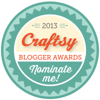 Craftsy Blogger Awards - Oct 2013. Vote for your favorite crafty blogs by 14th Oct.