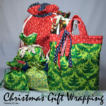 Sew these fabric gift bags - eath-friendly alternative to wrapping paper, and cute too!