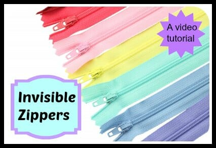 Sewing an Invisible Zipper video tutorial