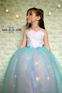Make this incredible light up dress for your little princess. At So Sew Easy.