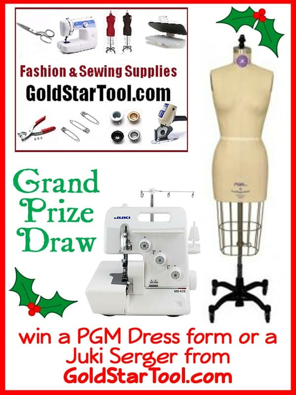 Daily giveaways throughout November and a Grand Prize Draw to win a PGM dress form and a Juki Serger!  Running at So Sew Easy during Nov 2013.