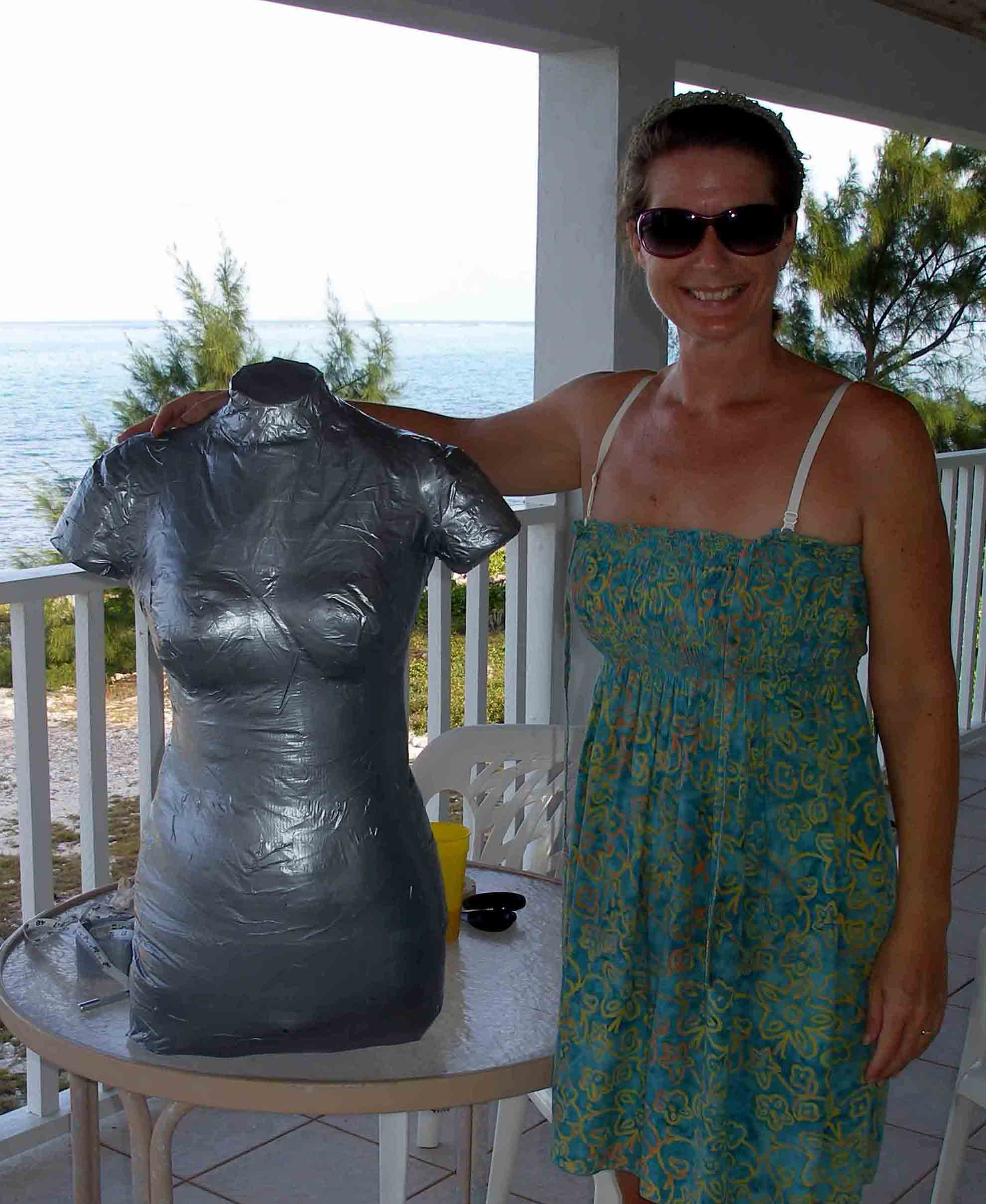 Duct tape dress form - the finished body double. So Sew Easy