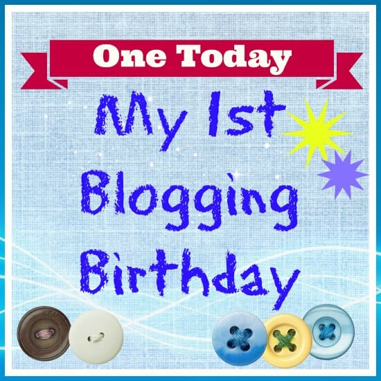My first blogging birthday. A look back at the first year at So Sew Easy.