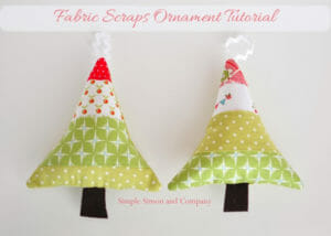 Make these cute fabric scraps ornaments. Seasonal Sewing Series at So Sew Easy.