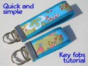 Quick and simple, sewn ribbon key fob tutorial.