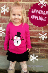 Instructions and pattern for sewing this cute snowman applique - and one for a thanksgiving turkey too!