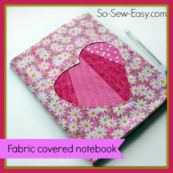 Fabric Covered Notebook with applique