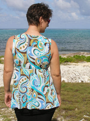 Craftsy Sewing with Knits - the final class project.  A cross-over dress/tunic from So Sew Easy.