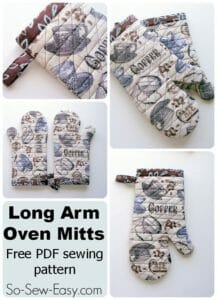 A long arm oven mitts pattern - now I'll never burn my wrists again!