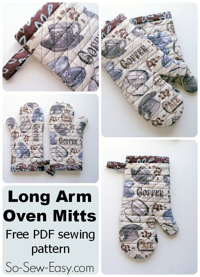 Long Arm Oven Mitts pattern