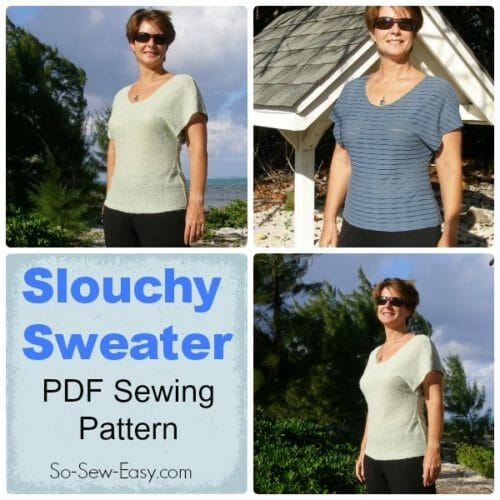 Slouchy Sweater sewing pattern from So Sew Easy,