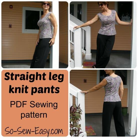 knit pants pattern