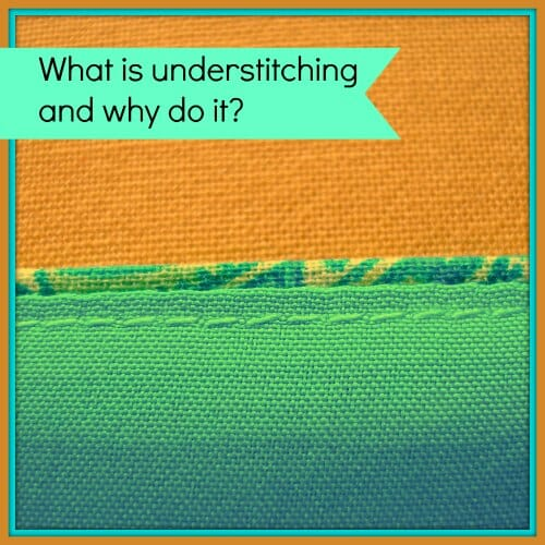 understitching a facing