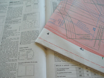 How to trace off Burda pattern, vintage patterns and multi-size patterns the EASY way - by So Sew Easy.