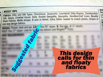 Understanding a Sewing Pattern Envelope.  Easy when you know how.  Good useful explanations, lots of good info.