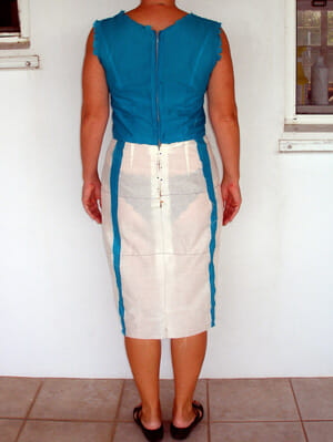 Making a skirt muslin, adjusting the fit and transferring adjustment to the paper pattern.  Part of Sew the Perfect Fit from So Sew Easy.