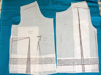 Sewing the perfect fit - making a muslin, transferring muslin changes back to the paper pattern ready for the fashion fabric and final garment.
