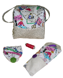 Some examples of 'pattern hacks' made to the So Sew Easy Boxy Bag. How would you personalise yours?
