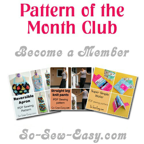 Save money and get to sew a lot! I'll be signing up at So Sew Easy to get a sewing pattern each month.
