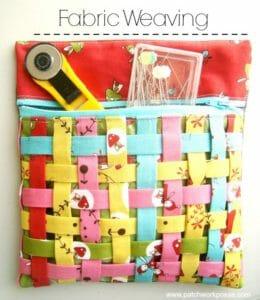 Fabric weaving, zipper pouch.