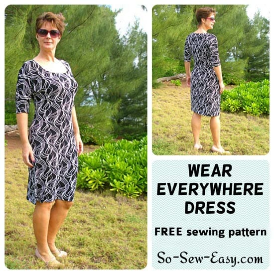 Easy Dress Pattern Free Wear Everywhere Knit Dress So Sew Easy