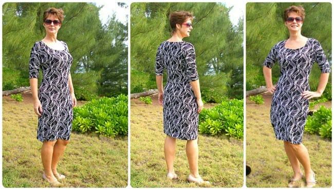 Easy Dress Pattern - Free Wear Everywhere Knit Dress - So Sew Easy