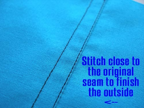 How, where and why to sew a Flat Felled Seam finish. One way to hide your raw edges.
