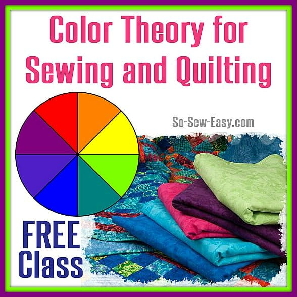 Free class about color theory, and how it applies to fabrics, sewing and quilting.  I need to learn more about this!