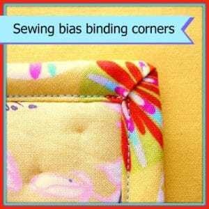 How to turn sharp corners with bias binding