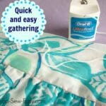 At last! A quick and easy way to gather long pieces of fabric with out breaking the gathering threads, ever. The secret is in the dental floss!