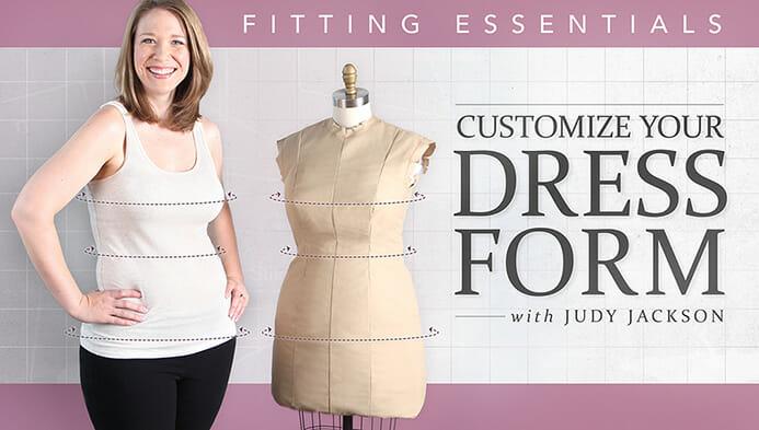 Pad a dress form