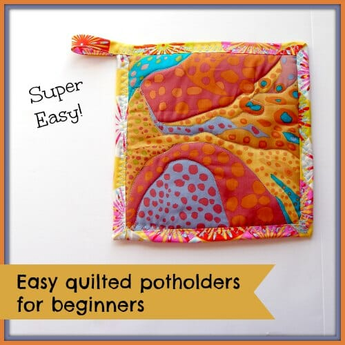 Easy quilted potholders - kitchen sewing series - So Sew Easy