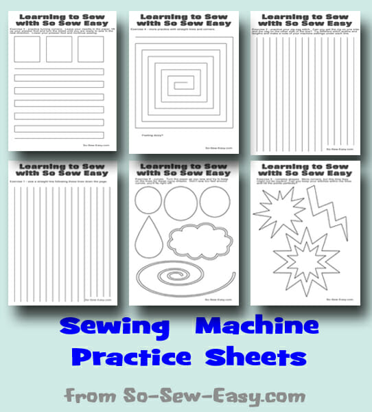 Sewing Machine Practice Sheets So Sew Easy Amazing How To Learn To Sew On A Sewing Machine