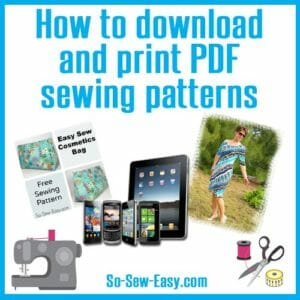 Tips and a video on how to download, open and print PDF sewing patterns.