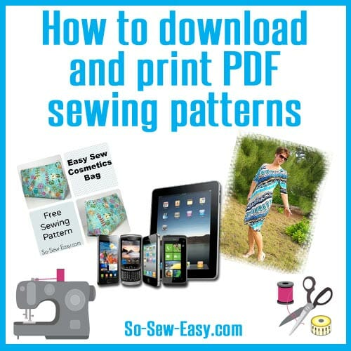 How to download and print PDF sewing patterns - So Sew Easy